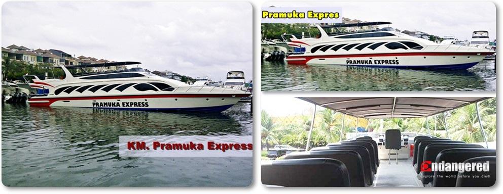 Sewa Kapal Speedboat Pramuka Express