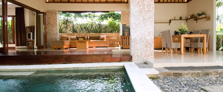 Bali Grand Akhyati Villas Honeymoon Package -  Pool Living room