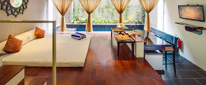 Bali 18 Suites Villas Honeymoon Package - Romantic Bedroom