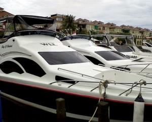 Sewa Kapal Speedboat Yacht - Dermaga Marina Ancol - Pulau Seribu