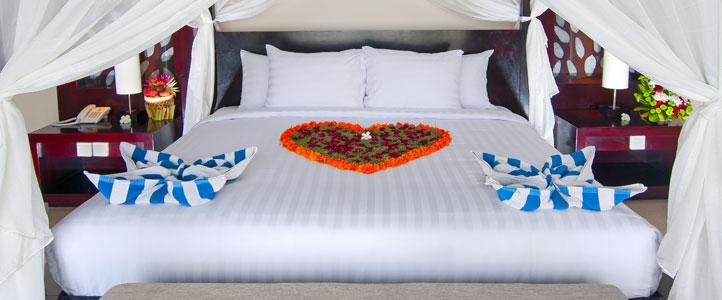 Bali Santi Mandala Villa Honeymoon Package - Honeymoon Bedroom