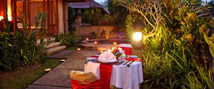 Bali Santi Mandala Villa Honeymoon Package - Romantic Dinner