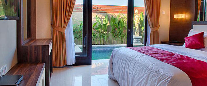 Bali Unagi Honeymoon Villa Bedroom