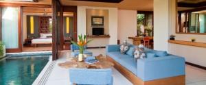 Bali Maca Seminyak Honeymoon Villa - Living Room with Pool