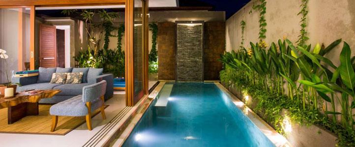Bali Maca Umalas Honeymoon Villa - Bedroom Pool Villa