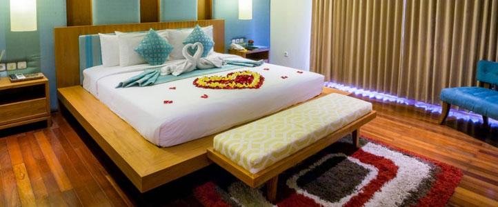 Bali Maca Umalas Honeymoon Villa - Romantic Bedroom
