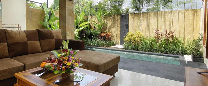 Bali Ardha Chandra Villa - Living Room