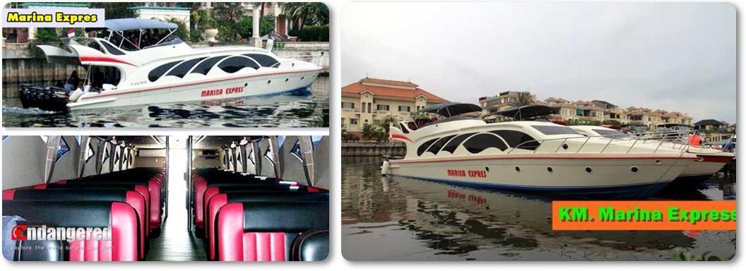 Sewa Kapal Speedboat Marina Expres