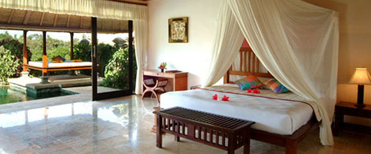 Bali Santi Mandala Villa Honeymoon Package - Romantic Bedroom