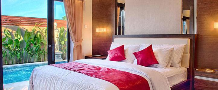 Bali Unagi Honeymoon Villa - Bedroom With Private Pool