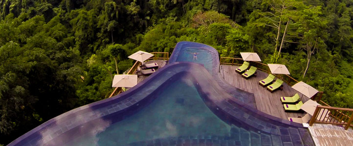 Bali Hanging Garden Ubud Honeymoon Villa - Luxurious Pool