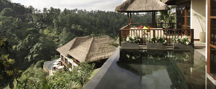 Bali Hanging Garden Ubud Honeymoon Villa - Private Infinity Pool