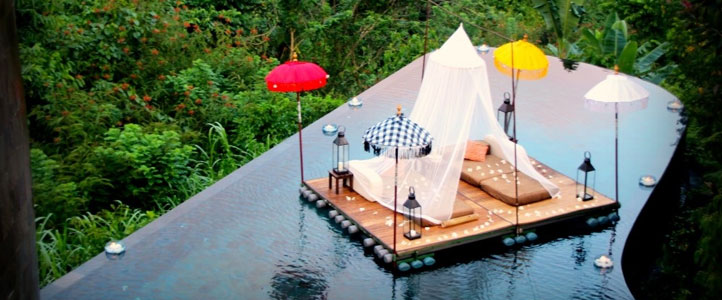 Bali Hanging Garden Ubud Honeymoon Villa - Romantic Pool