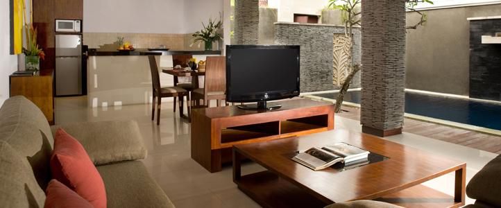 Bali Wolas Villa Honeymoon - Living Room