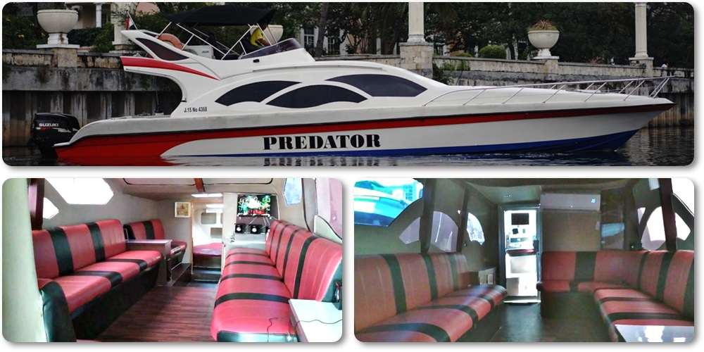 Sewa Kapal Speedboat Predator