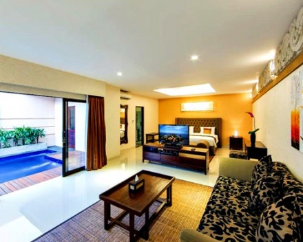 Bali Flamingo Dewata Honeymoon - Bedroom Pool Villa