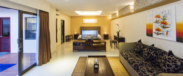 Bali Flamingo Dewata Honeymoon - Living Room Villa