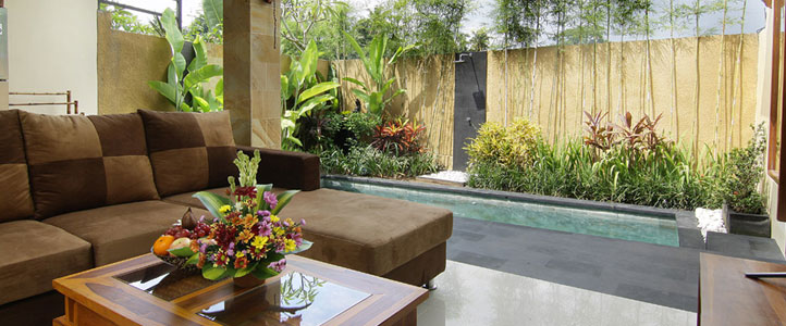Bali Ardha Chandra Villa - Living Room
